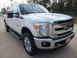 2012 White Platinum Metallic Tri-Coat Ford F250 Super Duty Lariat Crew Cab 4x4 #72398469