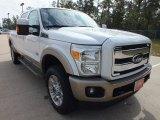 2012 White Platinum Metallic Tri-Coat Ford F250 Super Duty King Ranch Crew Cab 4x4 #72398466