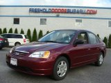 2002 Radiant Ruby Red Pearl Honda Civic LX Sedan #72398463