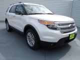 2013 White Platinum Tri-Coat Ford Explorer XLT EcoBoost #72397948