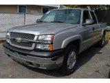 2005 Silver Birch Metallic Chevrolet Silverado 1500 LS Extended Cab 4x4 #72397493