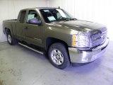 2013 Mocha Steel Metallic Chevrolet Silverado 1500 LT Extended Cab #72398165