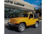 2012 Dozer Yellow Jeep Wrangler Sahara 4x4 #72398009