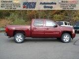 2013 Deep Ruby Metallic Chevrolet Silverado 1500 LT Crew Cab 4x4 #72397861