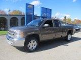 2013 Mocha Steel Metallic Chevrolet Silverado 1500 LT Extended Cab 4x4 #72469928