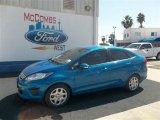 2013 Blue Candy Ford Fiesta SE Sedan #72521998