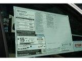 2013 Toyota Tundra Limited CrewMax 4x4 Window Sticker