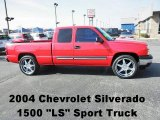 2004 Victory Red Chevrolet Silverado 1500 LS Extended Cab #72551727