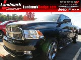 2010 Brilliant Black Crystal Pearl Dodge Ram 1500 Sport Quad Cab #72551349