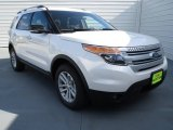 2013 White Platinum Tri-Coat Ford Explorer XLT EcoBoost #72551437