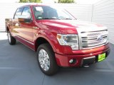 2013 Ruby Red Metallic Ford F150 Platinum SuperCrew 4x4 #72551432