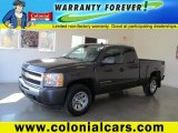 2010 Taupe Gray Metallic Chevrolet Silverado 1500 LS Extended Cab 4x4 #72551778