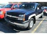 2005 Dark Blue Metallic Chevrolet Silverado 1500 Z71 Extended Cab 4x4 #72551196