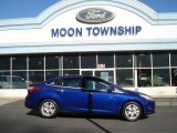 2012 Sonic Blue Metallic Ford Focus SEL Sedan #72551406