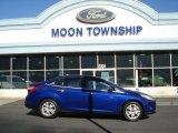 2012 Sonic Blue Metallic Ford Focus SEL Sedan #72551406