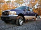 2003 Sonic Blue Metallic Ford F250 Super Duty XLT Crew Cab 4x4 #72551742
