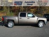 2013 Mocha Steel Metallic Chevrolet Silverado 1500 LT Crew Cab 4x4 #72551373