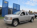 2013 Silver Ice Metallic Chevrolet Silverado 1500 LT Extended Cab 4x4 #72597620