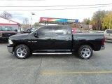 2010 Brilliant Black Crystal Pearl Dodge Ram 1500 Big Horn Crew Cab 4x4 #72597943