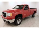 2007 GMC Sierra 2500HD Regular Cab 4x4 Front 3/4 View