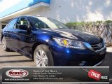 2013 Obsidian Blue Pearl Honda Accord LX Sedan #72597466