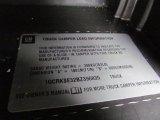 2011 Chevrolet Silverado 1500 LT Extended Cab 4x4 Info Tag