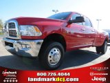 2012 Flame Red Dodge Ram 3500 HD Big Horn Crew Cab 4x4 Dually #72656615