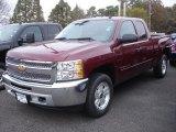 2013 Deep Ruby Metallic Chevrolet Silverado 1500 LT Extended Cab 4x4 #72656353