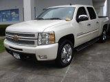 2013 White Diamond Tricoat Chevrolet Silverado 1500 LTZ Crew Cab 4x4 #72656347