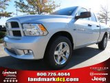 2012 Bright Silver Metallic Dodge Ram 1500 Express Quad Cab #72656605