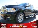 2012 Black Dodge Ram 1500 Laramie Limited Crew Cab #72656602