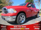 2012 Flame Red Dodge Ram 1500 SLT Crew Cab 4x4 #72656600