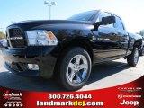 2012 Black Dodge Ram 1500 Express Quad Cab #72656596