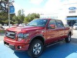 2013 Ruby Red Metallic Ford F150 FX4 SuperCrew 4x4 #72656528