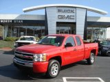 2010 Victory Red Chevrolet Silverado 1500 LS Extended Cab #72656674
