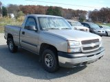 2003 Light Pewter Metallic Chevrolet Silverado 1500 Regular Cab 4x4 #72656673