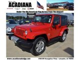 2010 Flame Red Jeep Wrangler Sahara 4x4 #72656660
