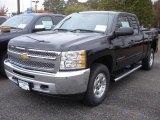 2013 Black Chevrolet Silverado 1500 LT Extended Cab 4x4 #72656386