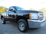 2013 Black Chevrolet Silverado 1500 LS Regular Cab #72706040