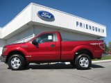 2013 Ruby Red Metallic Ford F150 XLT Regular Cab 4x4 #72705811