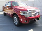 2013 Ruby Red Metallic Ford F150 Platinum SuperCrew #72705961