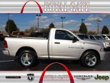 2012 Bright Silver Metallic Dodge Ram 1500 Express Regular Cab 4x4 #72705748