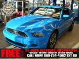 2013 Grabber Blue Ford Mustang V6 Premium Coupe #72705849