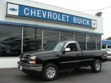 2006 Black Chevrolet Silverado 1500 Work Truck Regular Cab 4x4 #72705844