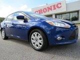 2012 Sonic Blue Metallic Ford Focus SE Sedan #72705943