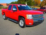 2009 Victory Red Chevrolet Silverado 1500 LT Crew Cab 4x4 #72706302
