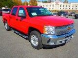 2013 Victory Red Chevrolet Silverado 1500 LT Crew Cab 4x4 #72706296