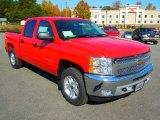 2013 Victory Red Chevrolet Silverado 1500 LT Crew Cab 4x4 #72706290