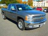 2013 Graystone Metallic Chevrolet Silverado 1500 LT Extended Cab #72706289