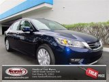 2013 Obsidian Blue Pearl Honda Accord EX-L Sedan #72765988